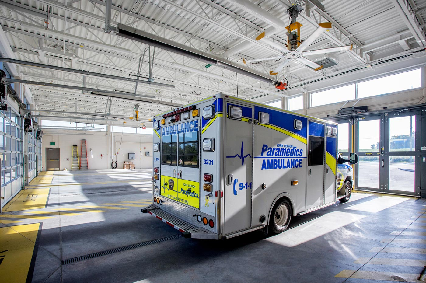York Region Paramedic Response Station #13 Ambulance Bay