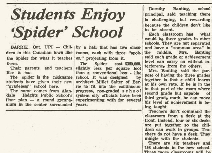 Allandale heights school development article 1968